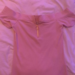 Pink GBG Los Angeles Off the shoulder Blouse
